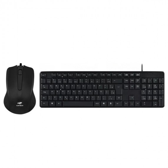 Kit Mouse e Teclado Usb C3tech Ultra Resistente Preto