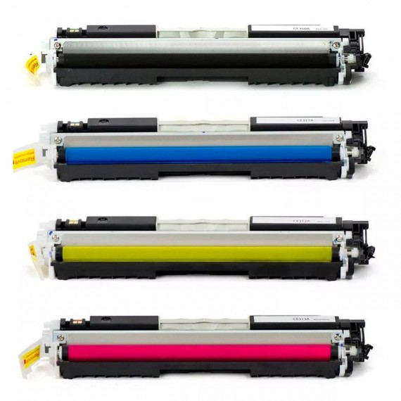Kit 4 Cores Toner P/ Laser Cp1025 Cp1025nw Cp-1025nw Cp-1025
