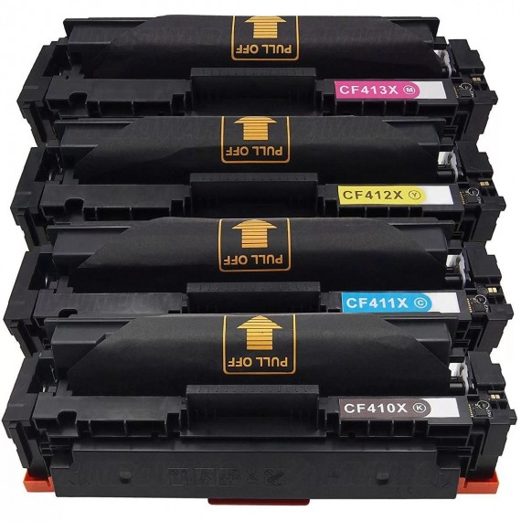 Kit 4 Toners Compatível Cf410x 411x 412x 413x Color Laser Ar