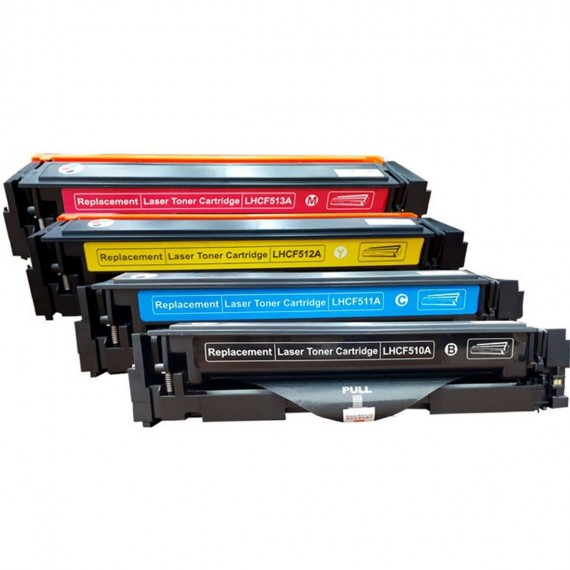Kit 4 Toner Compativel 204a Cf510a 511 512 513 M154 M180