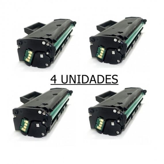 4 Toner Compatível Para Samsung Ml 2165 Mlt D101s  Scx 3405