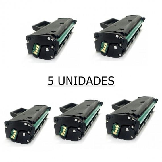 5 Toner Compatível Para Samsung Ml 2165 Mlt D101s  Scx 3405