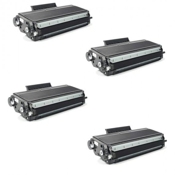 4 Unidades Toner Compatível Tn580 Tn 620 Tn650 P/ 8080 8060