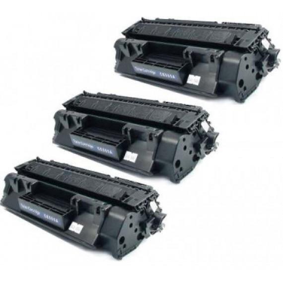 3 Unidades Toner 505a 05a Cf280 80a Para Imp P 2035 Pro 400