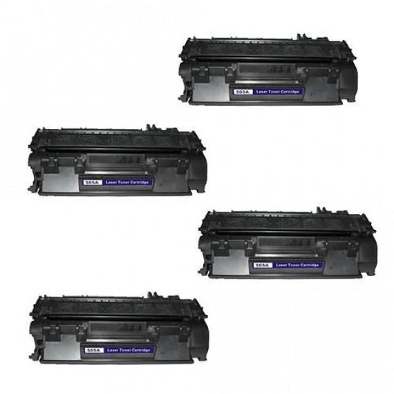 4 Unidades Toner 505a 05a Cf280 80a Para Imp P 2035 Pro 400