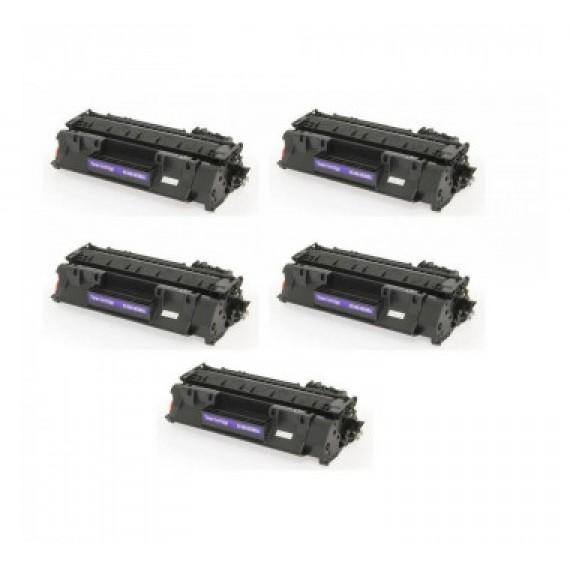 5 Unidades Toner 505a 05a Cf280 80a Para Imp P 2035 Pro 400