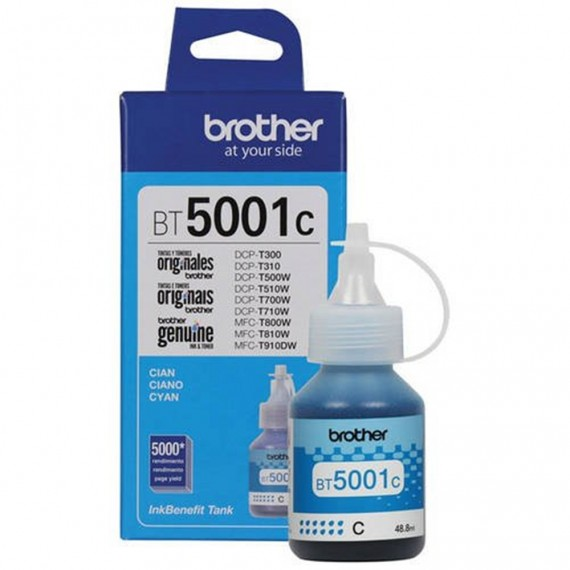 REFIL DE TINTA BROTHER BT5001C CIANO 5K P/MFC T810W/T4500