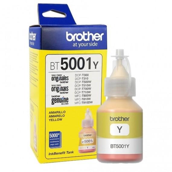 REFIL DE TINTA BROTHER BT5001Y AMARELA 5K P/MFC T810W/T4500