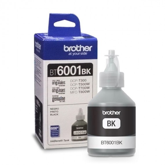 Refil Tinta Brother BT6001BK Preto Alto Rendimento Bt6001bk