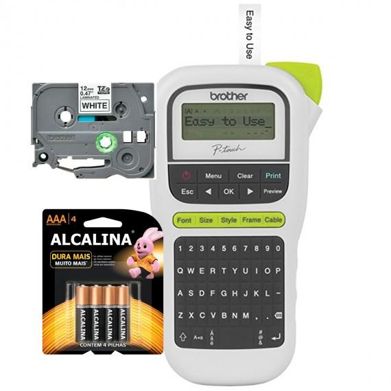 Rotulador Eletrônico Brother Pt-h110 1 Fita 6 Pilhas Alcalin